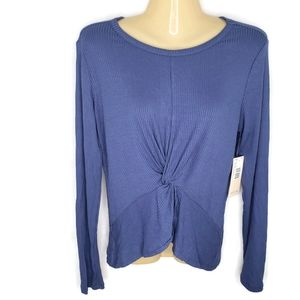NWT Hot Gal Ribbed Twist Front Top Size Me…
